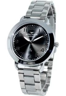Relógio Feminino Backer Analógico 3622123F - Unissex-Prata