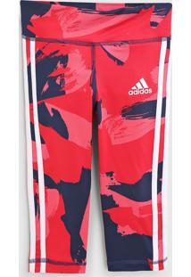 Calça Adidas Performance Infantil Camuflagem Rosa - Tricae