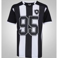 Camiseta Do Botafogo Braziline Vecto - Masculina - Preto Branco 7ad99f80ac11c
