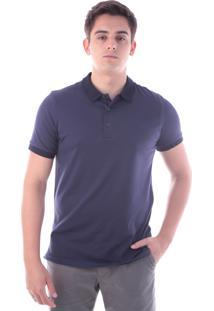 82c75e8915 Camisa Polo Cp0717 Azul Traymon Modelagem Slim