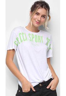 Camiseta Colcci Sport Style Feminina - Feminino-Branco