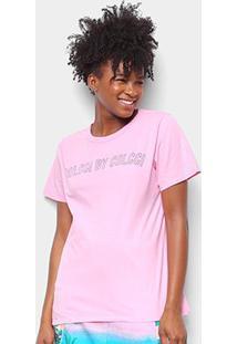 Camiseta Colcci Estampada Feminina - Feminino-Rosa Bebê
