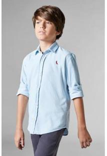 Camisa Jeans Infantil Reserva Mini Masculina - Masculino-Azul Claro