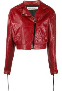 Nineminutes Bumper Cropped Biker Jacket - Vermelho