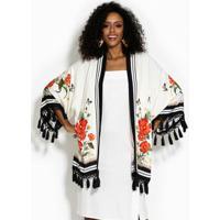 121e4fb97ca8 Kimono Fashion Franja feminino | Shoes4you