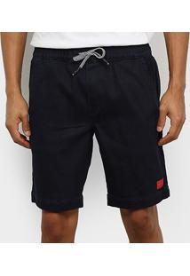 Bermuda Jeans Calvin Klein Chino Masculina - Masculino-Marinho