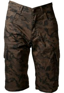 Bermuda De Sarja Militar Fashion Masculina