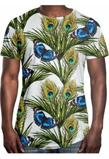 e311b6ce1 Camiseta Longline Over Fame Borboletas Floral ir para a loja