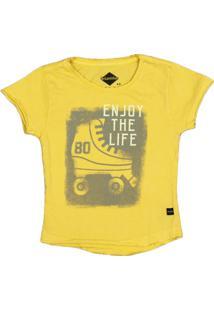 Camiseta Urbaninhos Mullet Patins Amarela