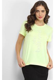 Camiseta Forum She Believied Feminina - Feminino-Verde Escuro