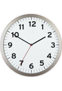 Relógio De Parede Anytime 32 Cm Branco