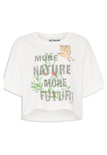 Camiseta Colcci Estampada - Off White