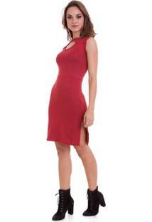Vestido Manola Vazado - Feminino-Vermelho