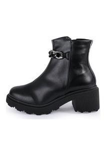 Bota Feminina Its Shoes Jasmine Preta