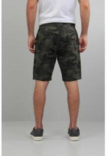 Bermuda Mas Estamp Masculina - Masculino-Verde Militar