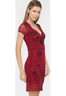 Vestido Colcci Tubinho Curto Tule - Feminino