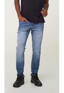 Calça Masculina Skinny Em Jeans De Algodão E Elastano