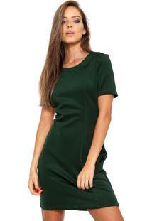 Vestido Ellus Curto Jersey Verde