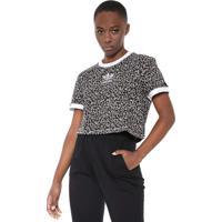 3a92f93633f Camiseta Cropped Adidas Originals Lf Bege Preta