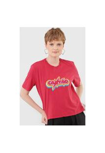 Camiseta Cantão Box Rainbow Rosa