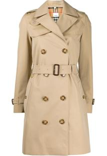 Burberry Trench Coat Midi - Neutro