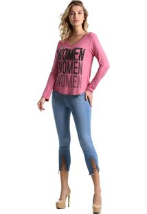 T-Shirt Its&Co Women Rosa Claro
