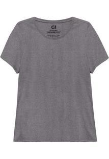 Camiseta Babylook Gola C Super Cinza