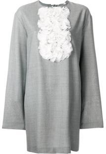 Lardini Vestido Com Jabô - Grey 13225a50267