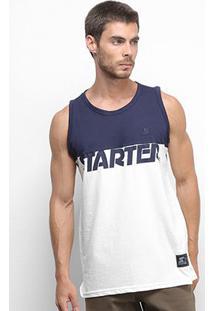 Camiseta Regata Starter Especial Artercut Masculina - Masculino-Marinho