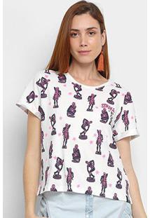 Camiseta Cantão Strike Pose Feminina - Feminino-Off White