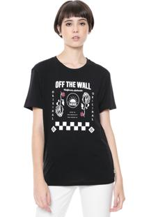 Camiseta Vans Boyfriend Wm First Hand Preta