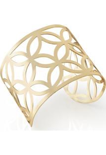 Bracelete Dourado Metal Eudora