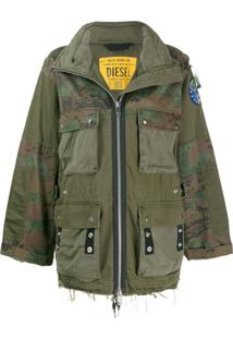 Diesel Panelled Field Jacket - Verde