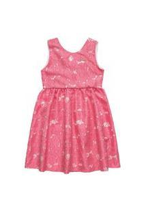 Vestido Em Tecido Jacquard Acetinado Quimby Rosa