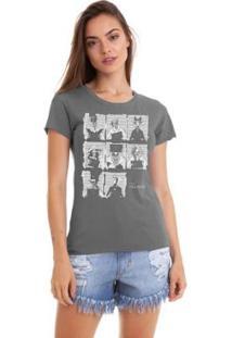 Camiseta Joss Vilões Feminina - Feminino-Cinza