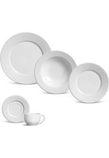 Aparelho De Jantar 30 Peças Olimpia - Unissex-Branco