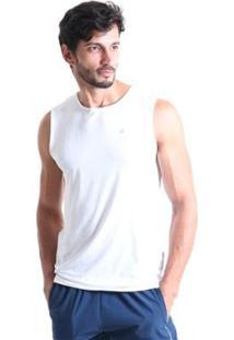 Regata Líquido Machão Masculina - Masculino-Branco