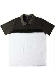 Camiseta Polo Em Meia Malha Branco