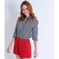Camisa Listras Manga Longa feminina  27975ceda4e71