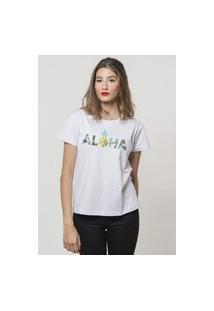 Camiseta Jay Jay Basica Aloha Pineapple Branca Dtg