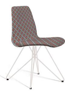 Cadeira De Jantar Eames Butterfly Cinza E Laranja