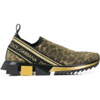 534348dbe Dolce & Gabbana Tênis Com Animal Print - Dourado