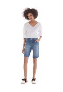 Bermuda Comfort Bolso Diagonal Jeans 36
