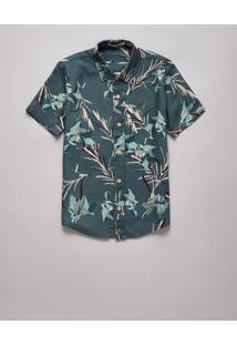 Camisa Mini Sm Mc Lirios Reserva Mini Verde - Kanui