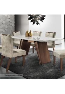 Conjunto De Mesa Atena & Cadeiras Esparta- Chocolate & Alj Móveis