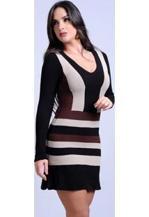 Vestido Curto Tricot Modal