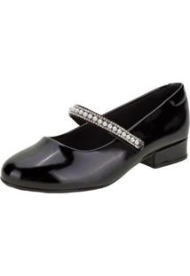 Sapato Molekinha Infantil Feminino - Feminino-Preto