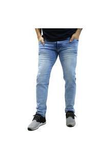 Calça Jeans Elite Lux Slim Reta Azul Claro