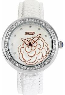 Relógio Skmei Analógico 9087 - Feminino-Branco
