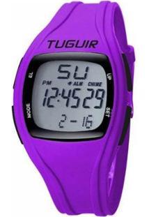 Relógio Tuguir Digital Feminino - Feminino-Roxo